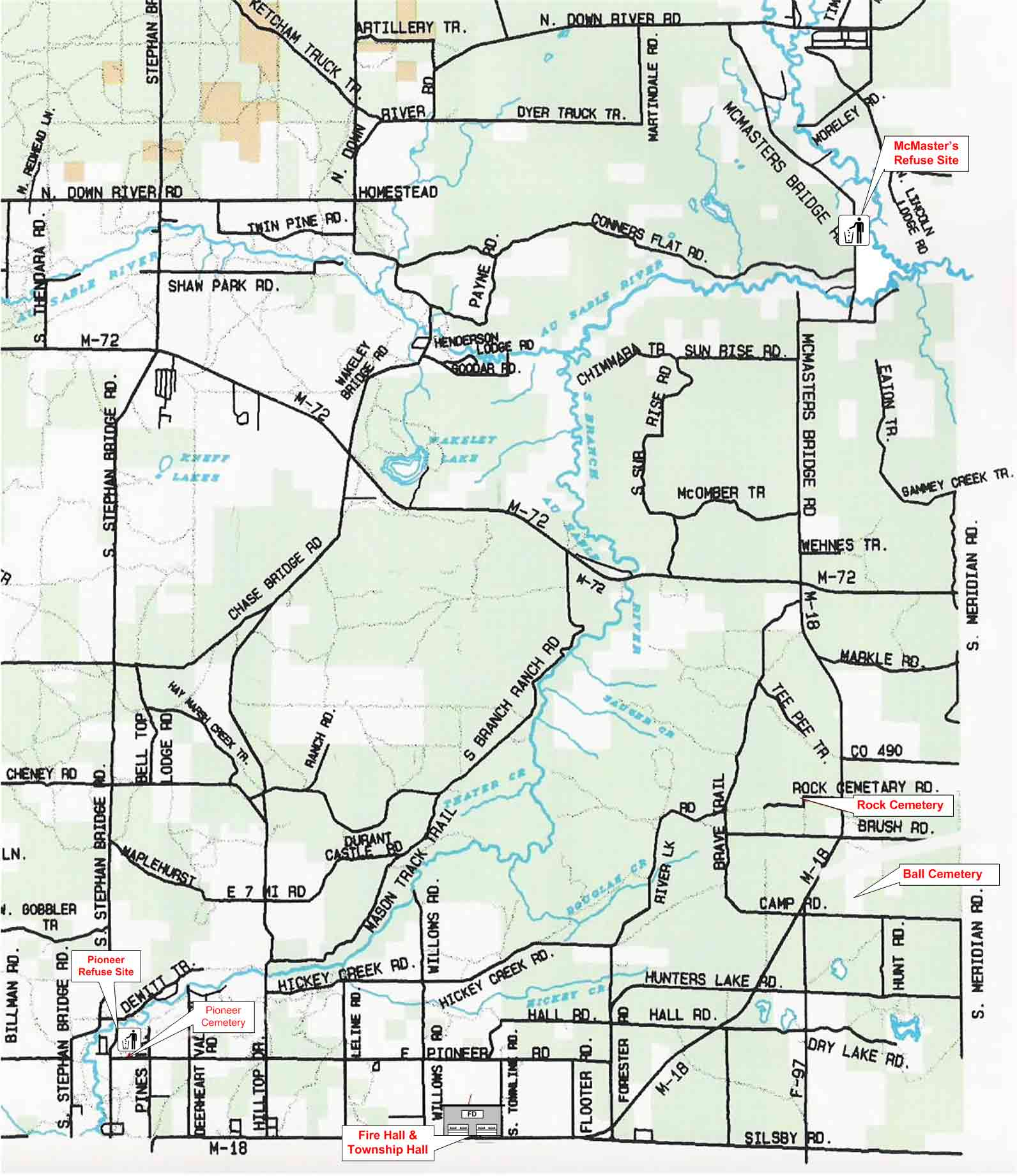 South Branch Township Maps Directions - Mi map